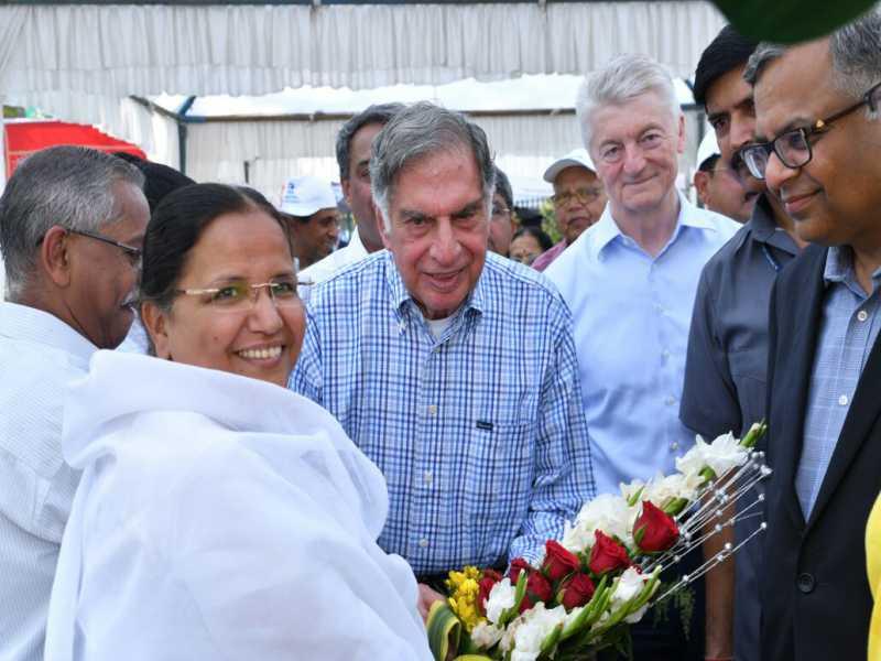 BK Anju greeting Ratan N Tata